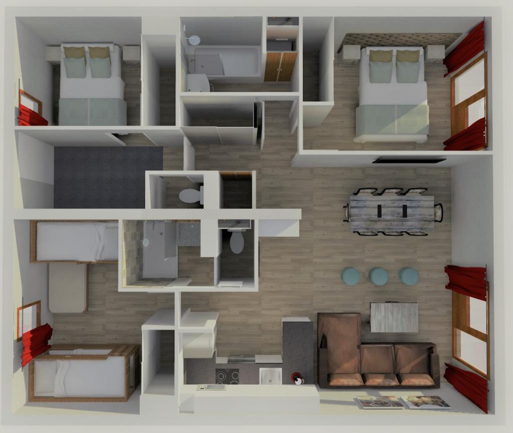 Location appartement Belle Plagne pour 8 personnes résidence Carène